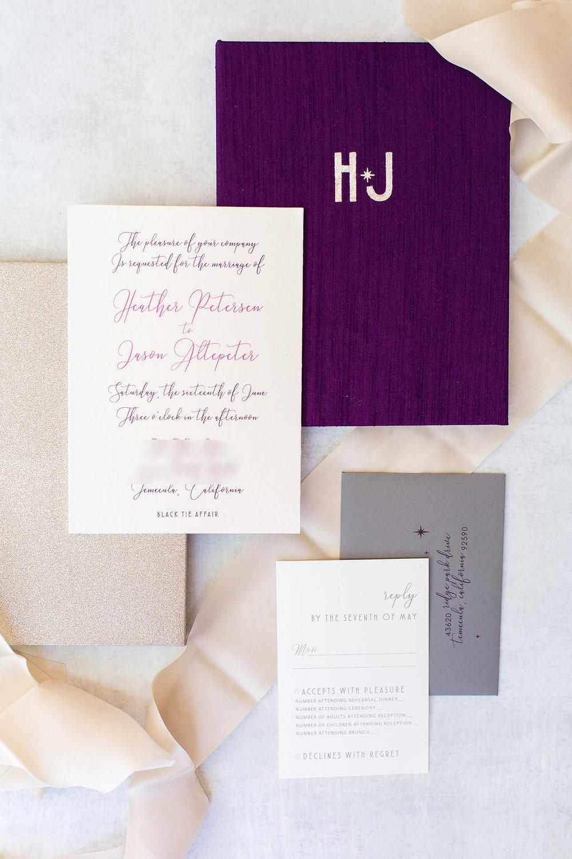 Michelle Garibay Events | Brian Leahy Photography | Luxury Temecula Wedding | La La Land Wedding | Holographic Invitation