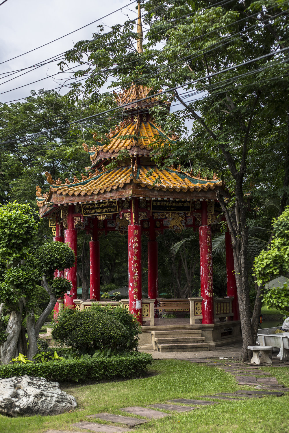 Picturesque gazebo in Lumphini Park.