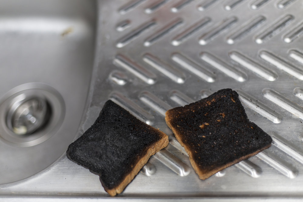 """Nothing says, """"this is going to be a burnt-toast kind of day,""""...like some burnt toast."""