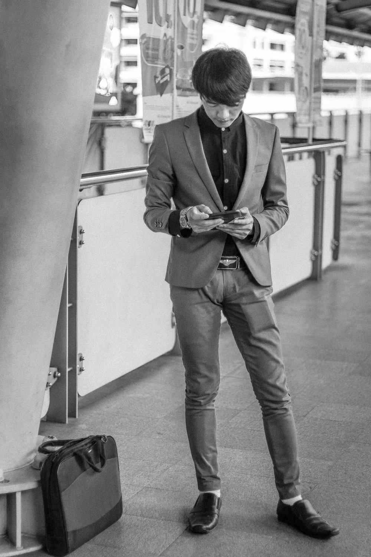 Dapper man at Sarasat Station.