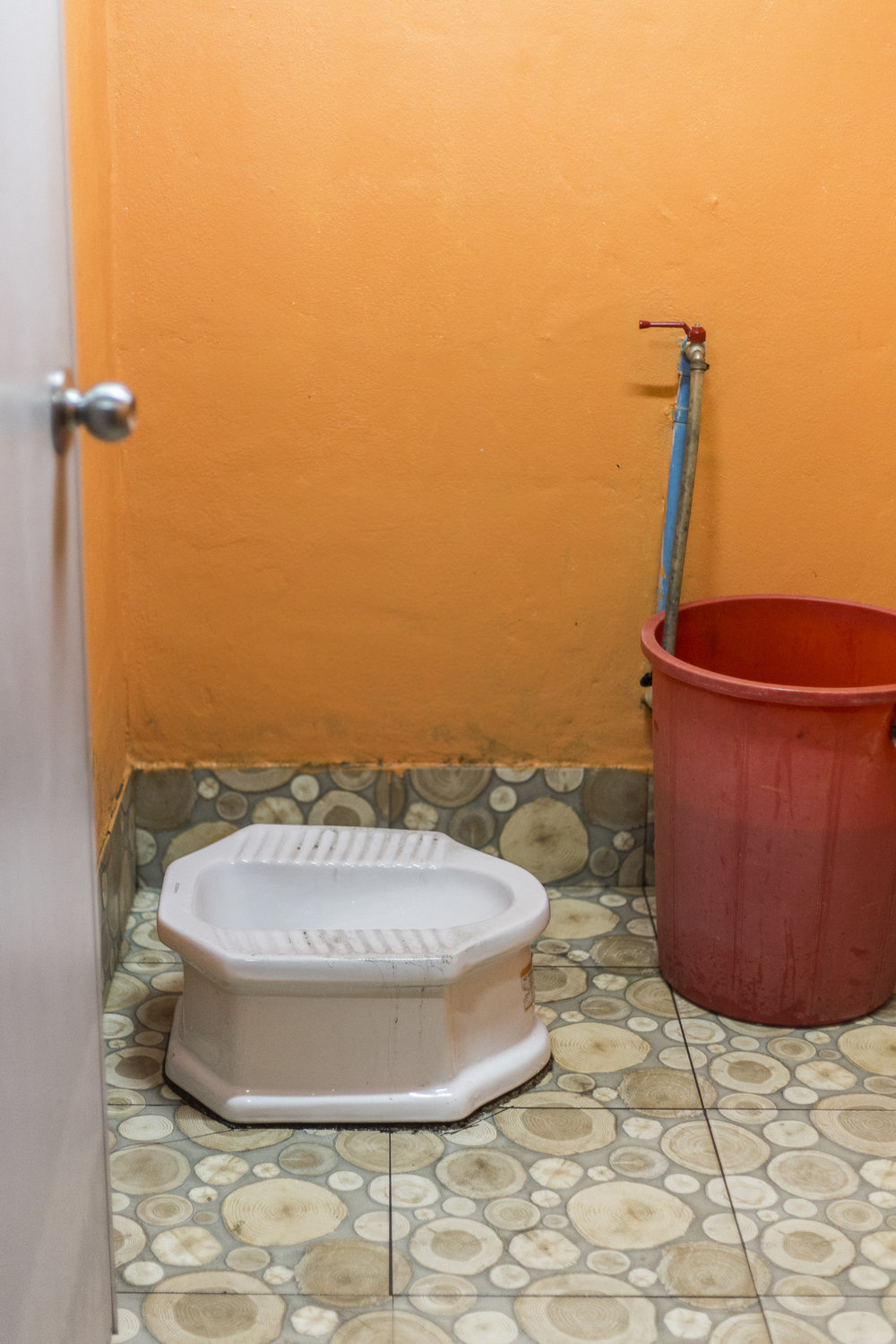 My first experience with a traditional Thai toilet...