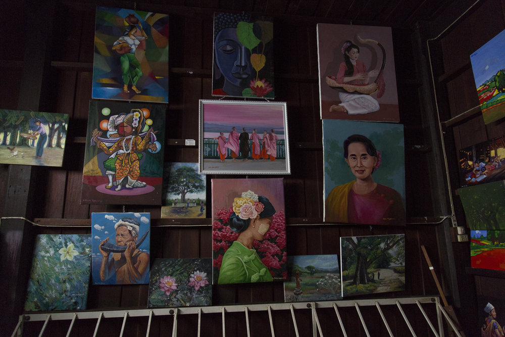 A room of Paintings.