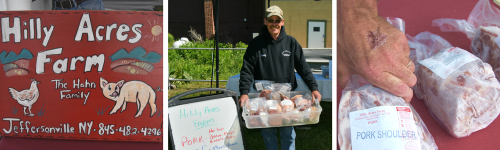 Hilly Acres Farm Specializing in naturally raised home grown, pork, beef, poultry and lamb.