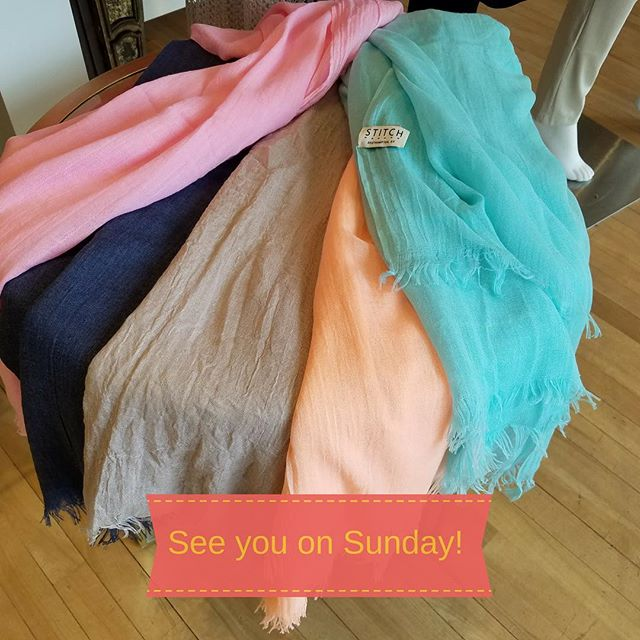 Southampton Village is hopping and we're excited for our Bridal Style Open House this Sunday. Stop in anytime from 11am until 3pm, we're giving away these great scarves as a door prize to all attendees while supplies last.  There's so much more to see and do that day so don't miss it. 👰🤵