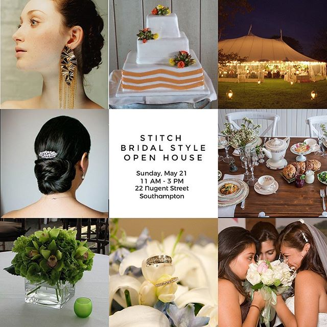 Brides, grooms, and Moms - join us for our Bridal Style Open House tomorrow. Stop in anytime between 11am and 3pm to relax, enjoy tastings, and ask questions.