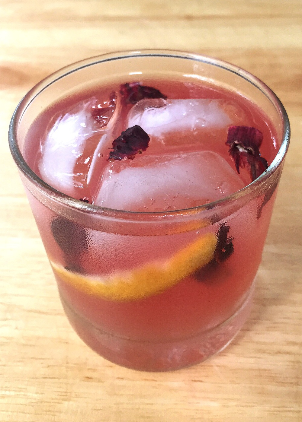 gin hibiscus aperitif cocktail