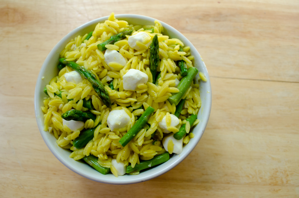 pasta salad with asparagus lemon and mozzarella