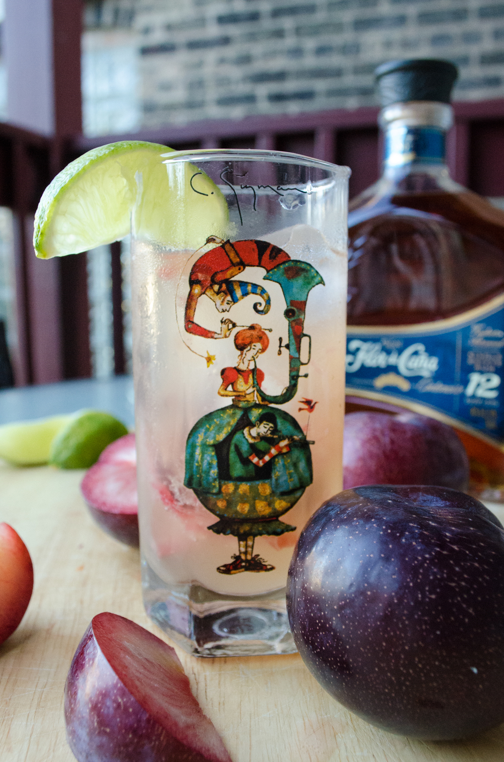 plum dark n stormy cocktail