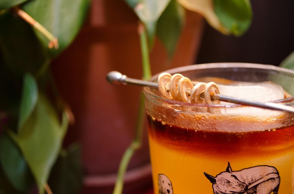 pumpkin-cynar cocktail