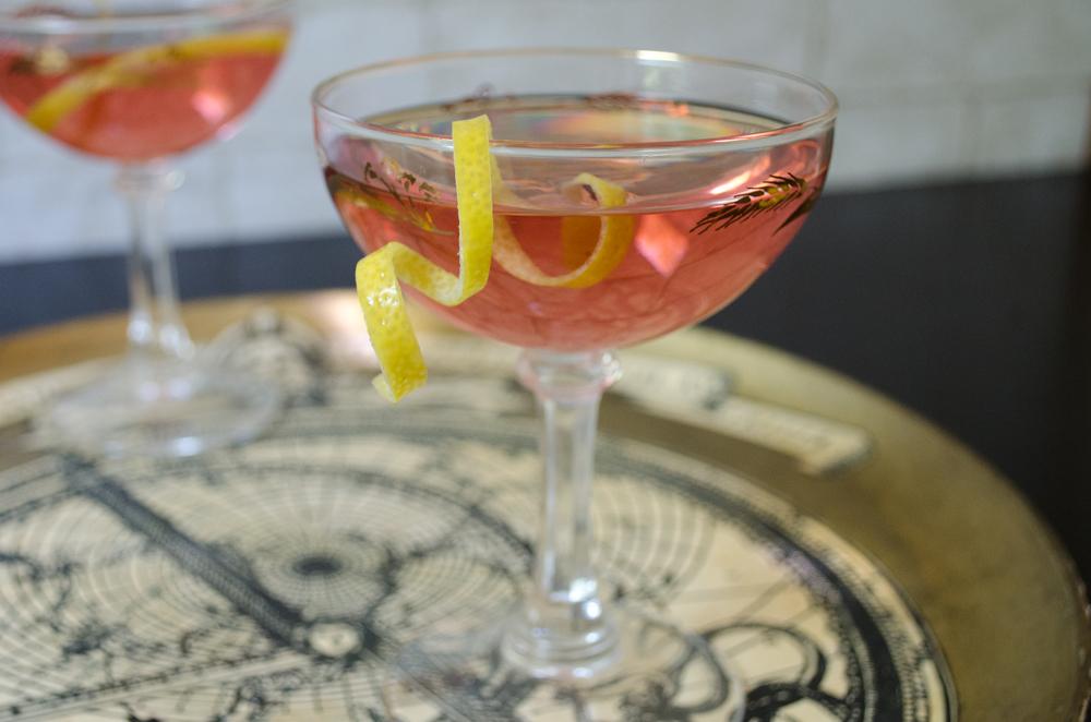 grapefruit-jasmine aperitif with lillet rouge