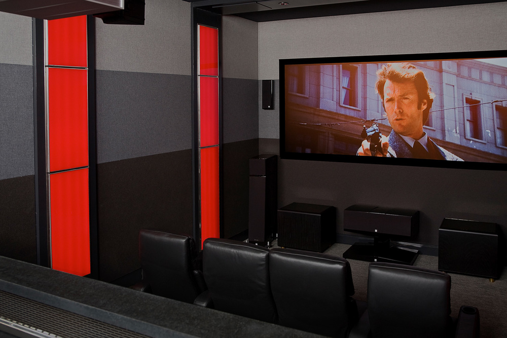 Home theater with acoustic treatment in McKinney