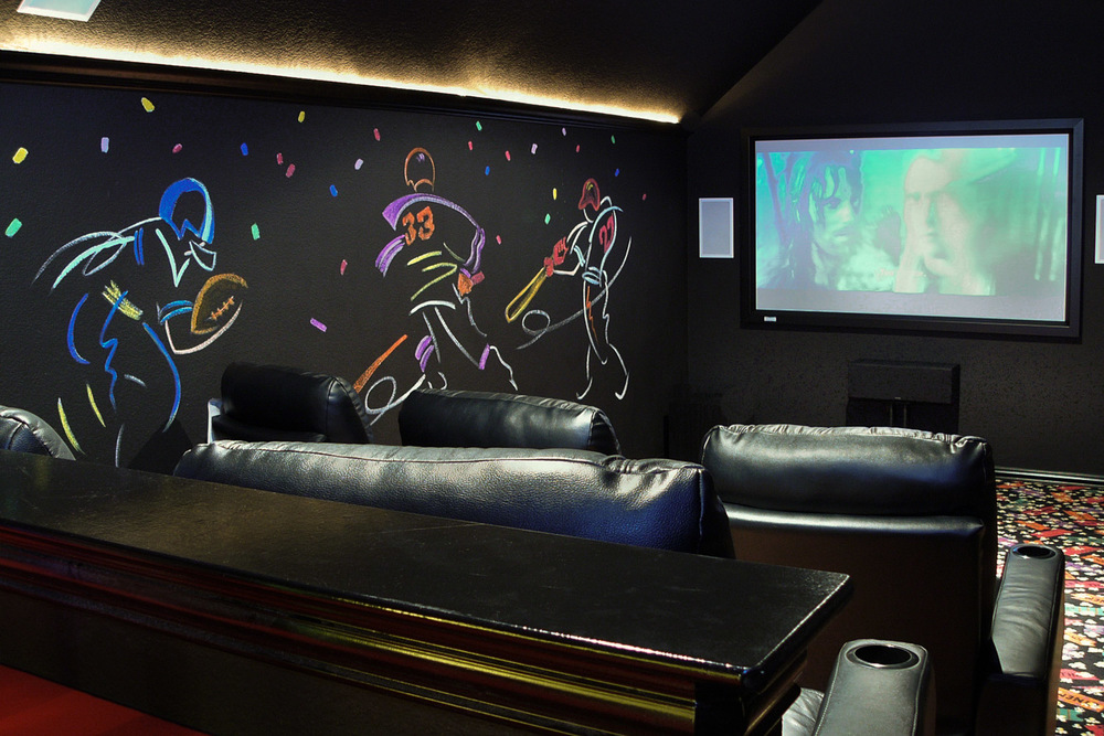 Home theater with sports bar in Prosper