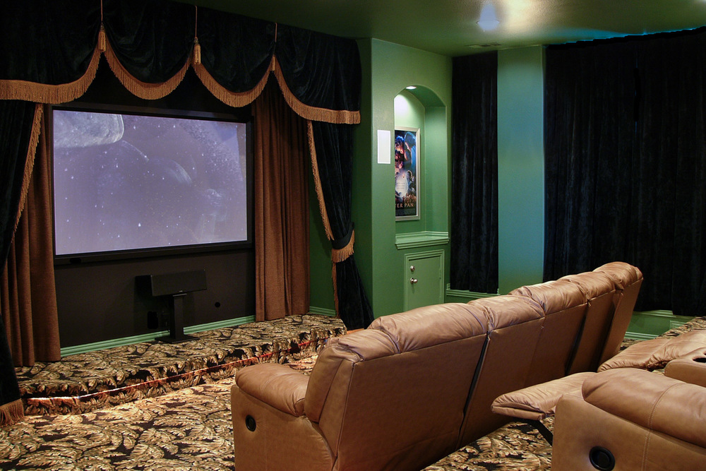 Classic multi-level home theater in Frisco