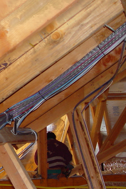 A proper prewire is key. Wire must be up off the ceiling joists, run on its own supported pathways, out of the way of damage by others.  It must be run away from noise-producing equipment and other wiring that can cause signal disturbances.  Doing a prewire properly doesn't take more space, but it can take more time.   Done properly, the investment in a prewire will last a very long time.