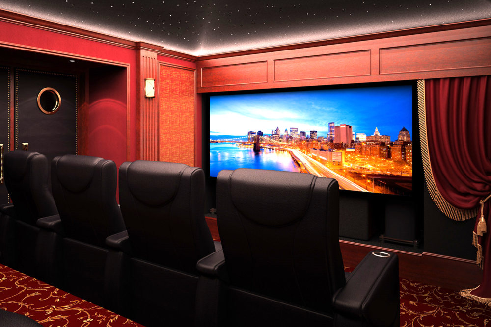 High-end theater in Plano with CinemaTech seating