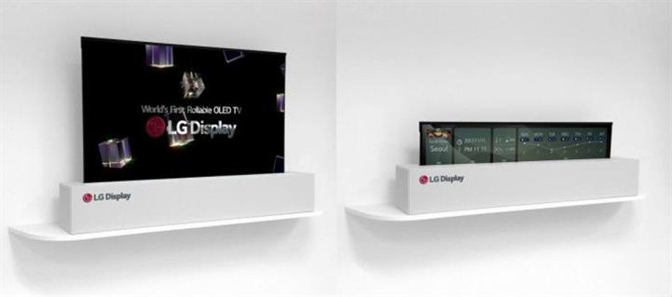 Roll-up televisions by LG Electronics