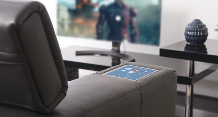 Touchscreen in armrest