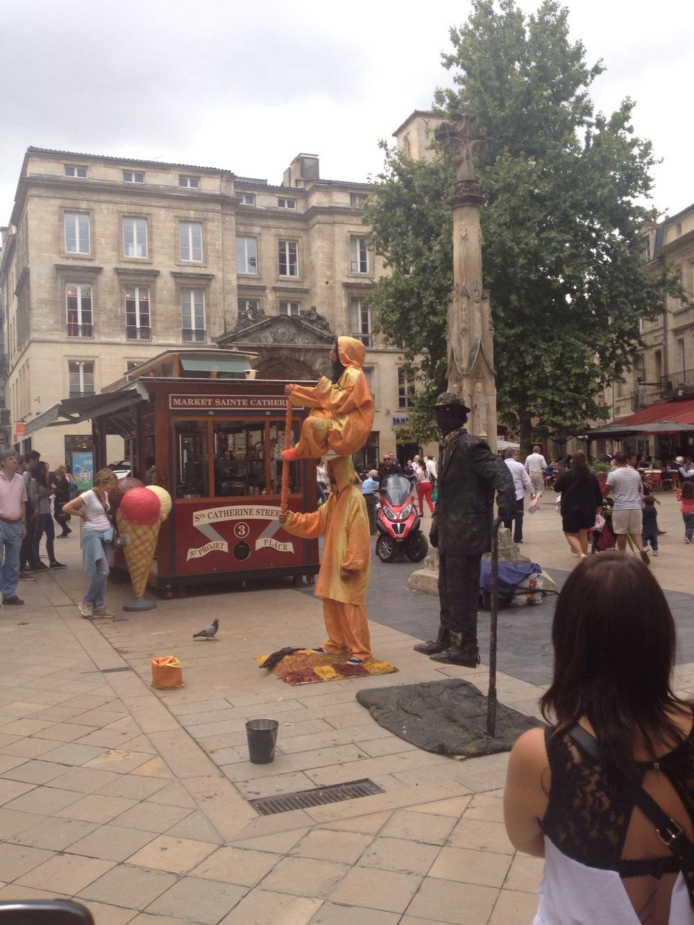 Levitating street performers!