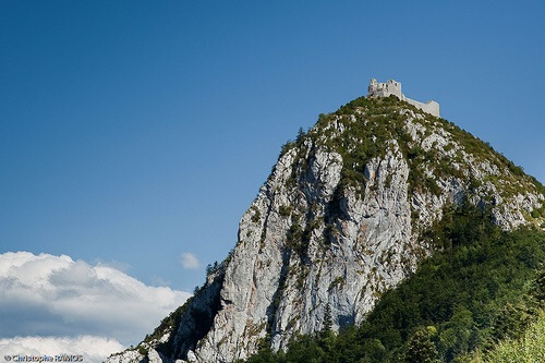 Montsegur.  I left my camera at the bottom, so this ones courtesy of Google images.