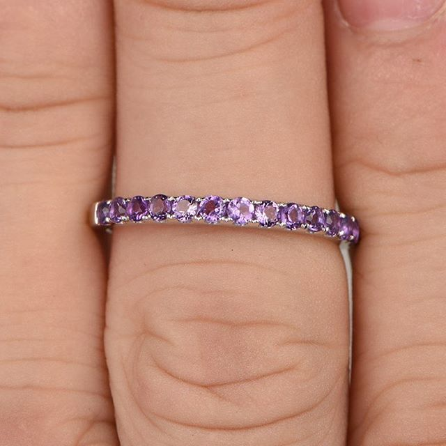 What's the birthstone for #february? #amethyst of course. In love with this petite purple. 🔮💜