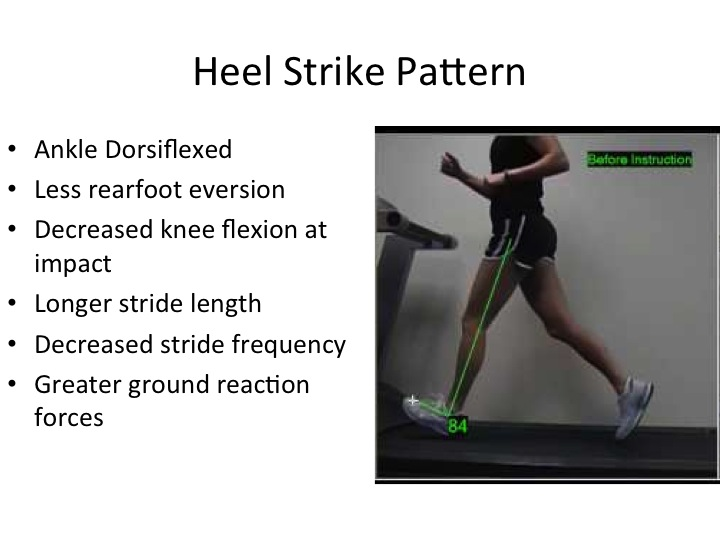 running, heel strike pattern, physical therapy gait analysis