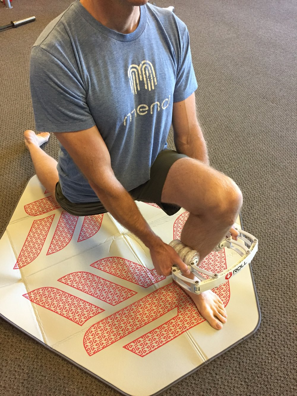 dynamic warm up-calf-soft tissue mobilization