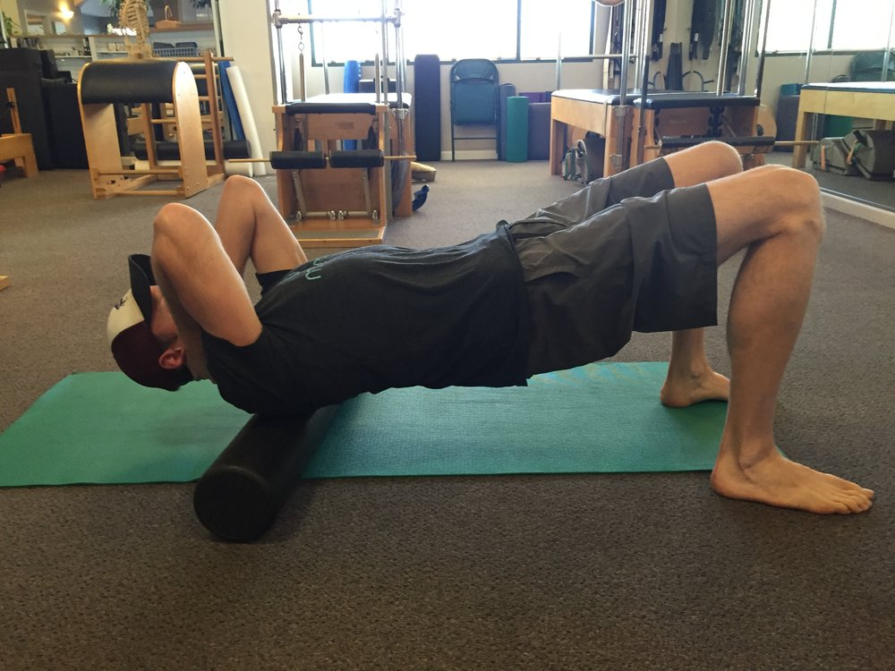 thoracic-foam roller-mobility-self mobilizaiton