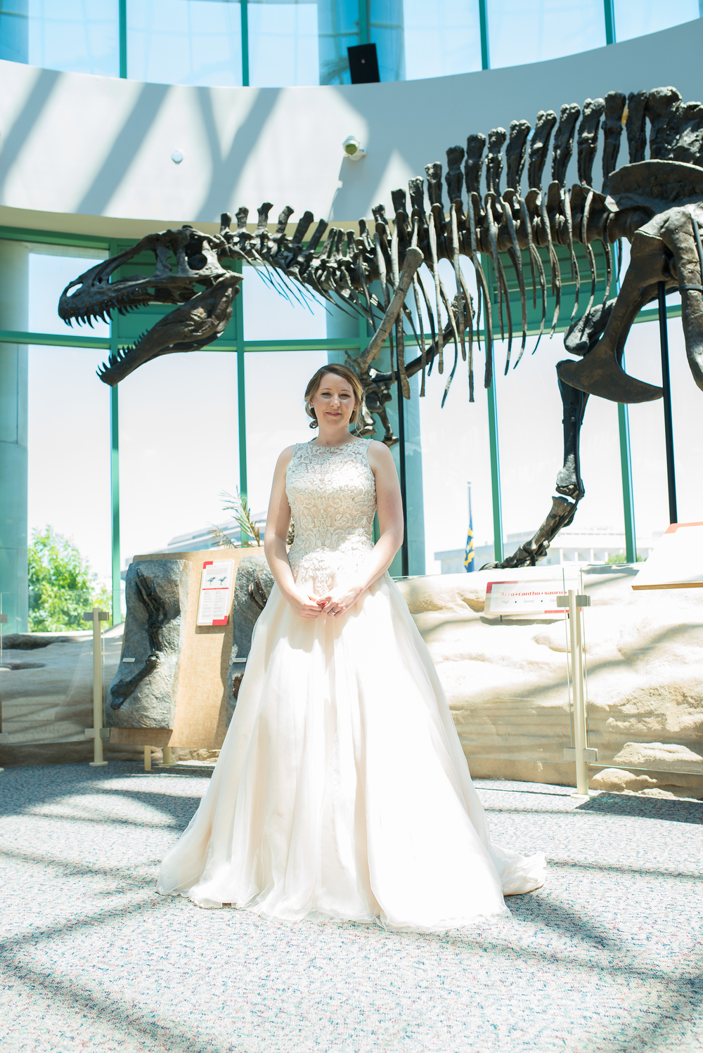 Science Museum Bridal Portraits - Raleigh Wedding Photographers