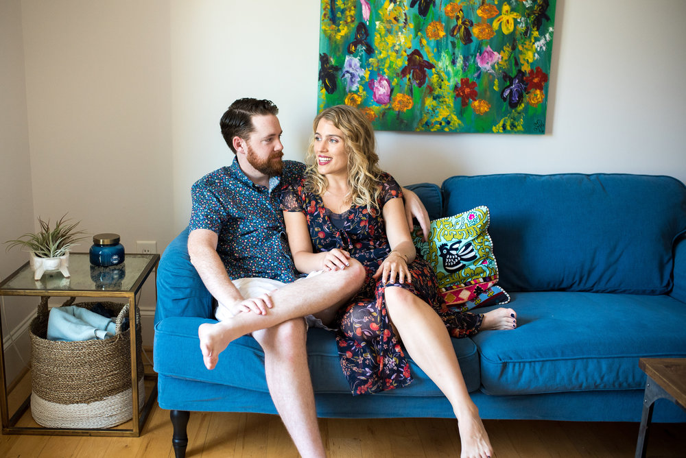 In-Home Engagement Session - Raleigh Wedding Photographer - Chapel Hill Wedding Photographer
