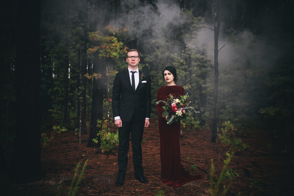 Twin Peaks Inspired Wedding - North Carolina Wedding Photographer