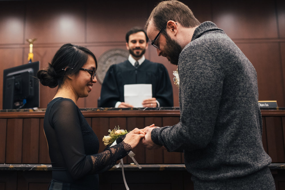 Raleigh Courthouse Wedding - North Carolina Wedding Photographer - Elopement Wedding Photographer