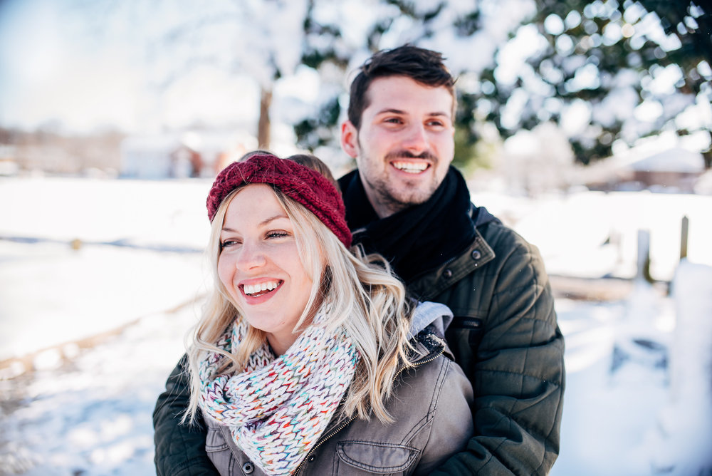 snow engagement session - raleigh wedding photographer - north carolina wedding photographer