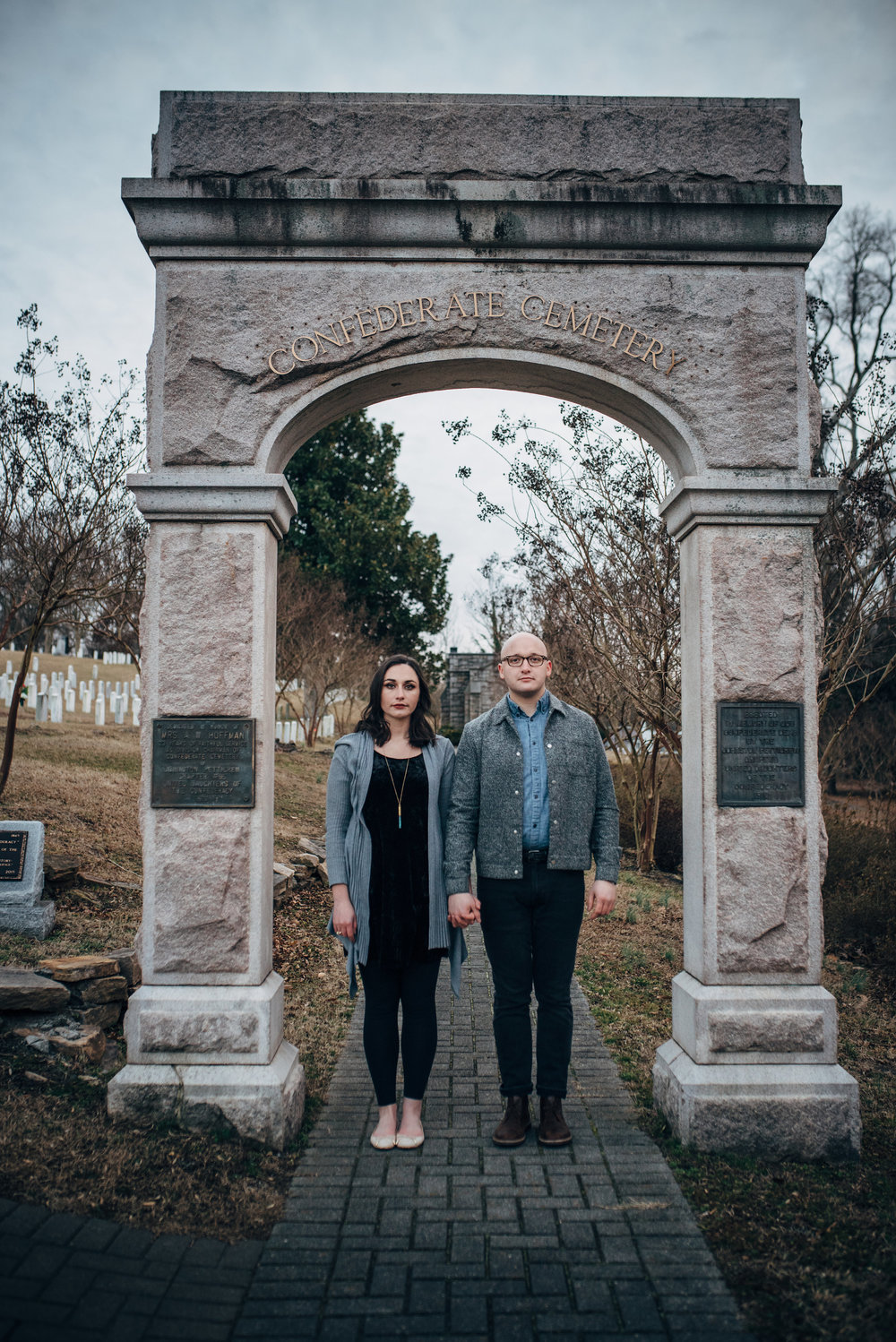 oakwood cemetery engagement - raleigh wedding photographer - north carolina wedding photographer