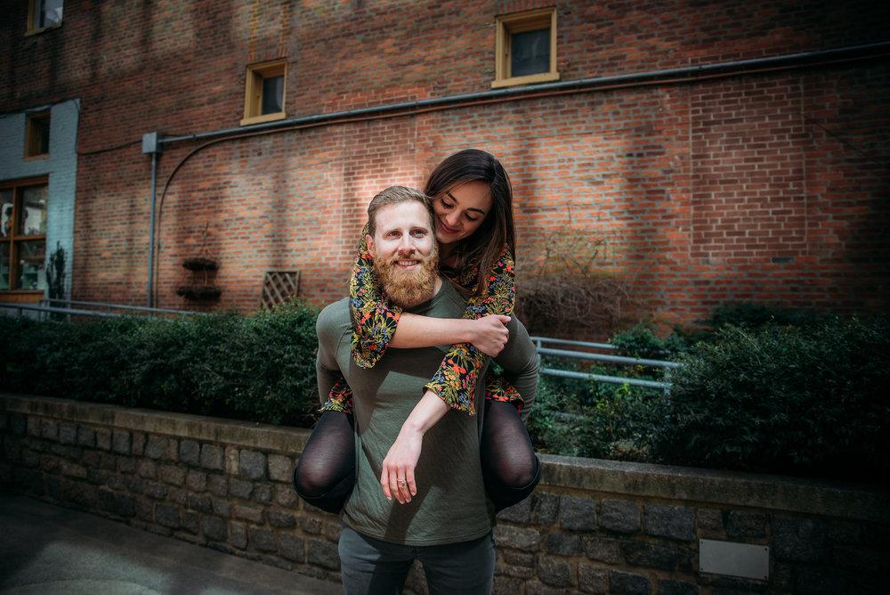 Downtown Durham Engagement Session - Durham Wedding Photographer - North Carolina Wedding Photographer