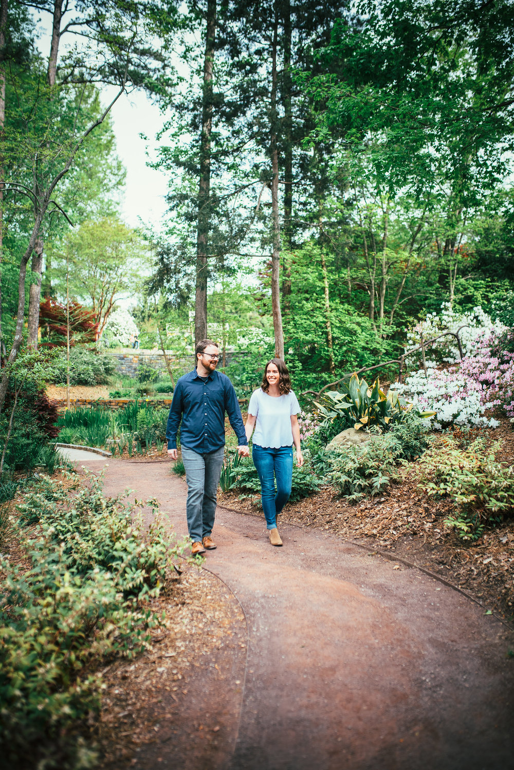 north carolina wedding photographer - duke gardens engagement - durham wedding photographer