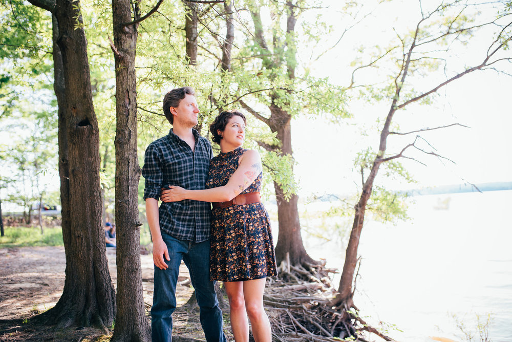 Jordan Lake Engagement Session - North Carolina Wedding Photographer - Durham Wedding Photographer