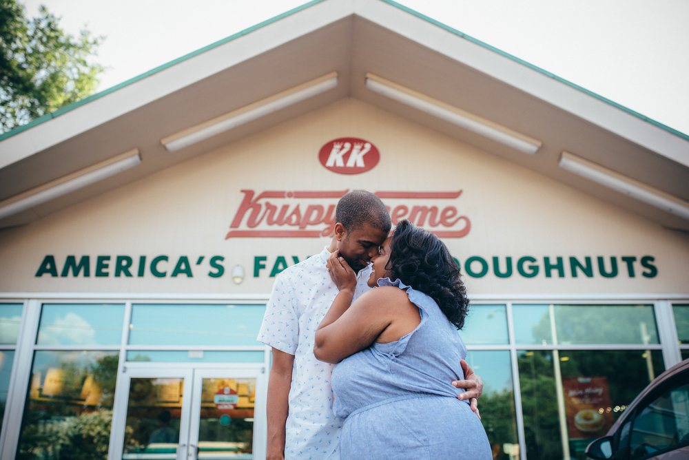 Raleigh Wedding Photographer - North Carolina Wedding Photographer - Krispy Kreme Photoshoot