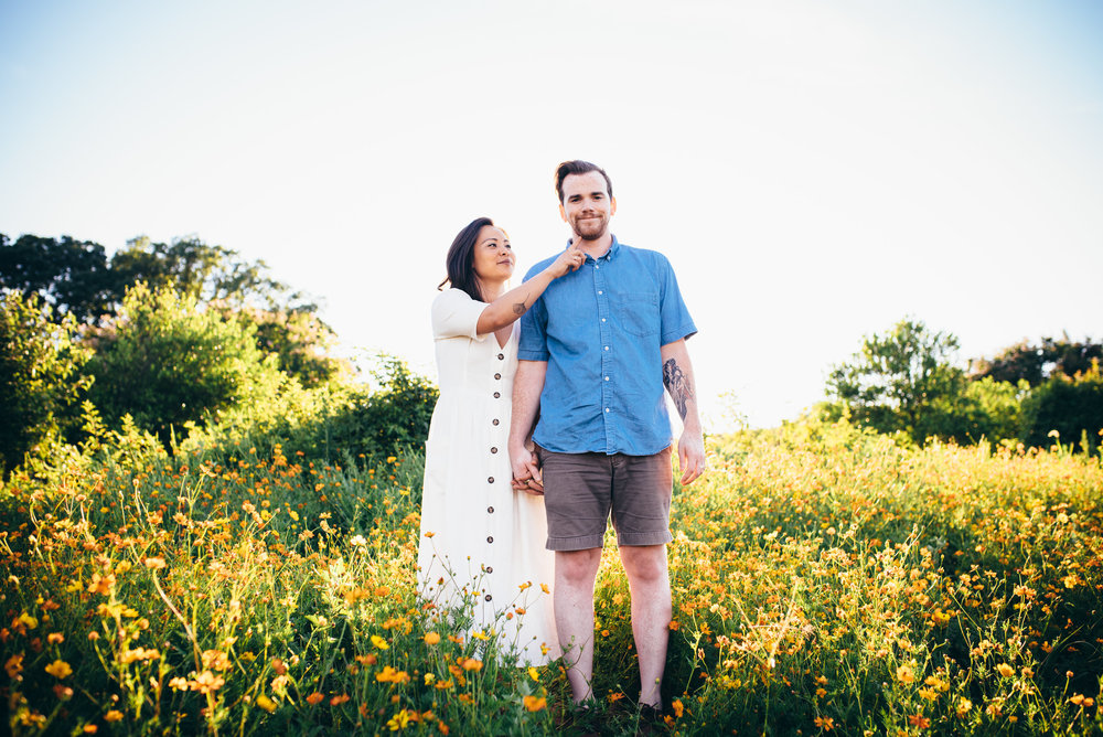 dorothea dix park - raleigh couple photographer - north carolina wedding photographer