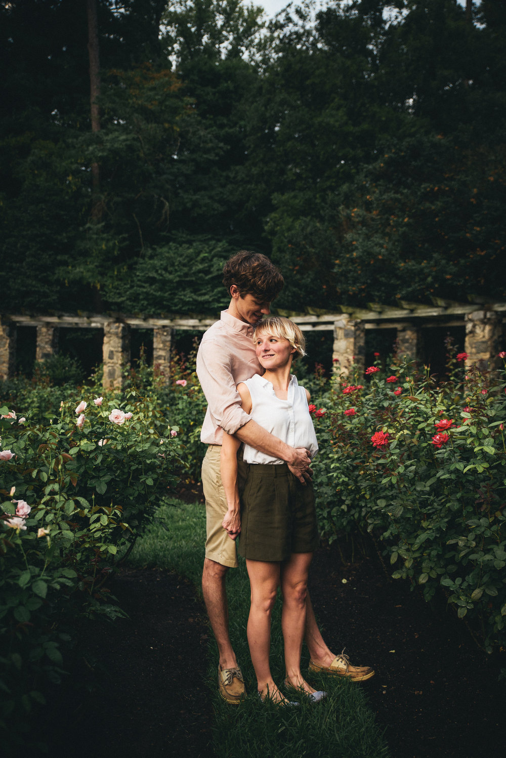 Rose Garden Engagement Session - Raleigh Engagement - North Carolina Wedding Photographer