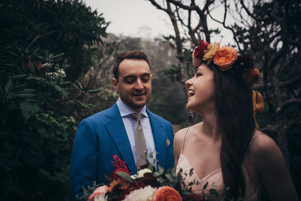 asheville wedding photographer - north carolina wedding photographer - craggy gardens elopement
