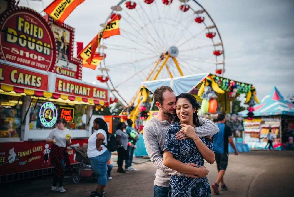 nc state fair engagement session - raleigh wedding photographer - north carolina wedding photographer