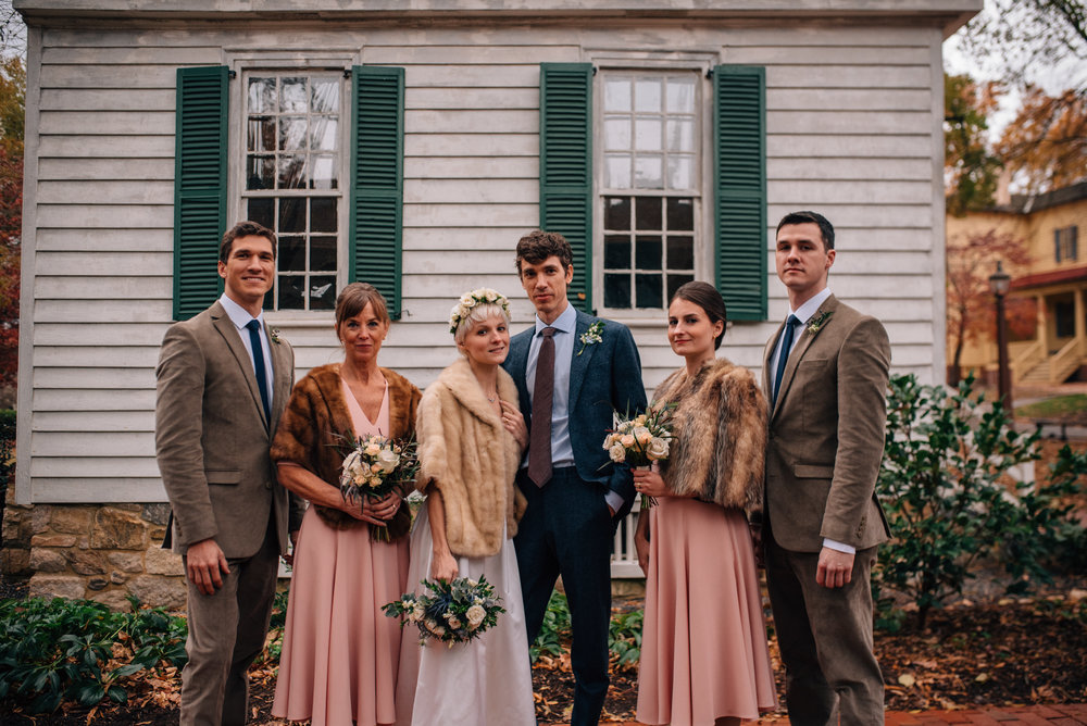 raleigh wedding photographer - north carolina wedding photographer - winter wedding - historic mordecai wedding