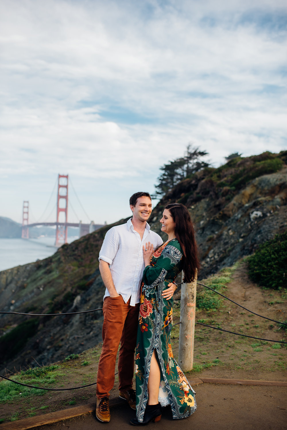 brittany and ryan - san francisco wedding photographer - san francisco engagement photographer- golden gate engagement - marshalls beach engagement