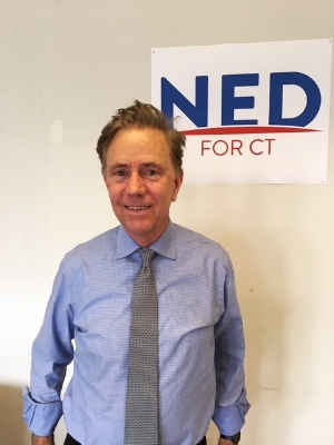 Democratic gubernatorial hopeful Ned Lamont.