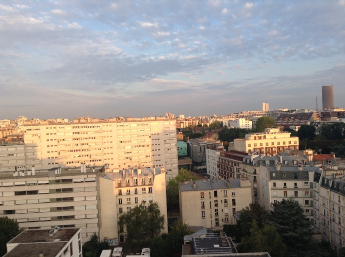 Parisian evening, July 24, 2015.