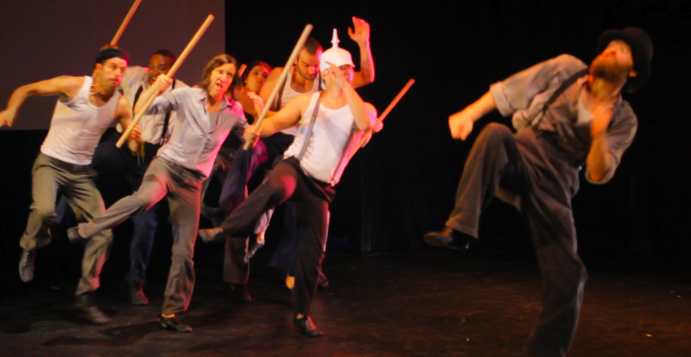The Whistling Mortican, followed by all his friends, racing to go see Soo Jin Pretty Nail, at Baltimore Theatre Project!