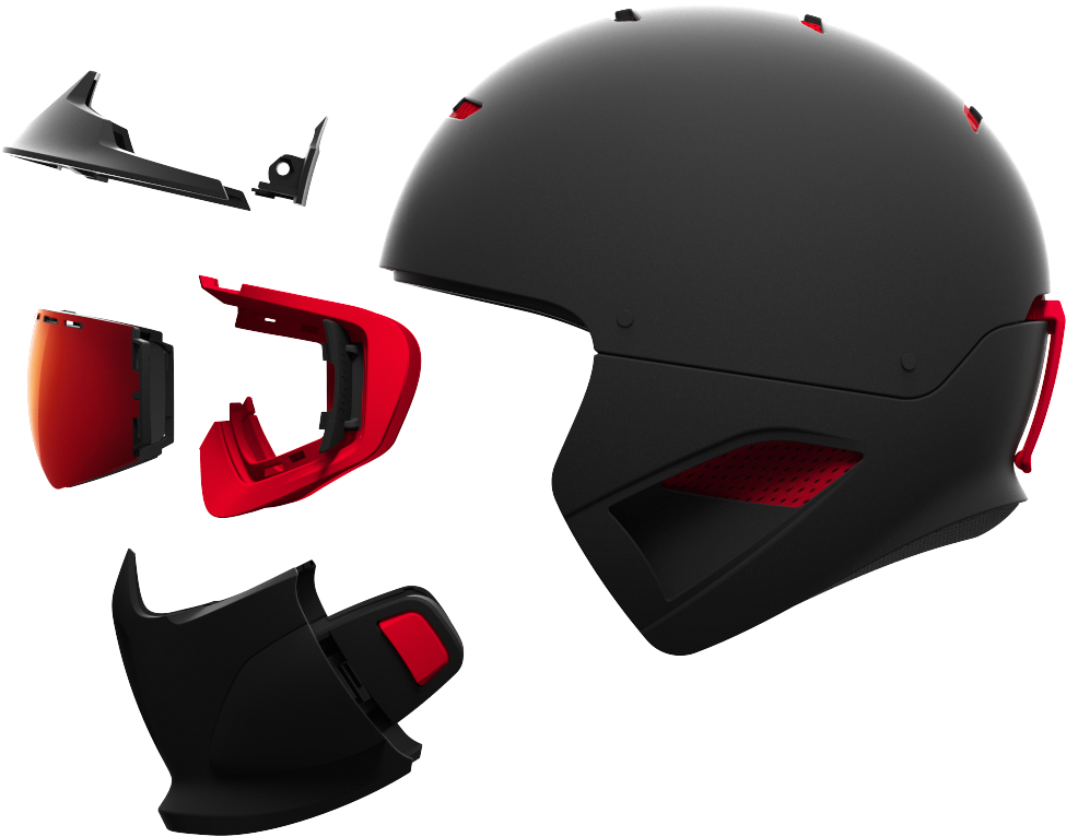Ein IntegralHelm - Der RG1-DX bietet ein unvergleichliches Schutz System, mit einem Helm, einer Gesichtsmaske und einen Frontschutz. Alles ist perfekt entwickelt damit alle Teile zusammen passen und ein einziges Stück bilden. Die ABS Schale, das RAID-System das Aufkondensieren verhindert, die MagLoc-Schutzbrille mit einer farblich abgestimmten Iridescent MagLens, das einbaubare Shockwave Bluetooth Audio System… Die Ruroc Helme sehen sich als Spitzenproduckte!