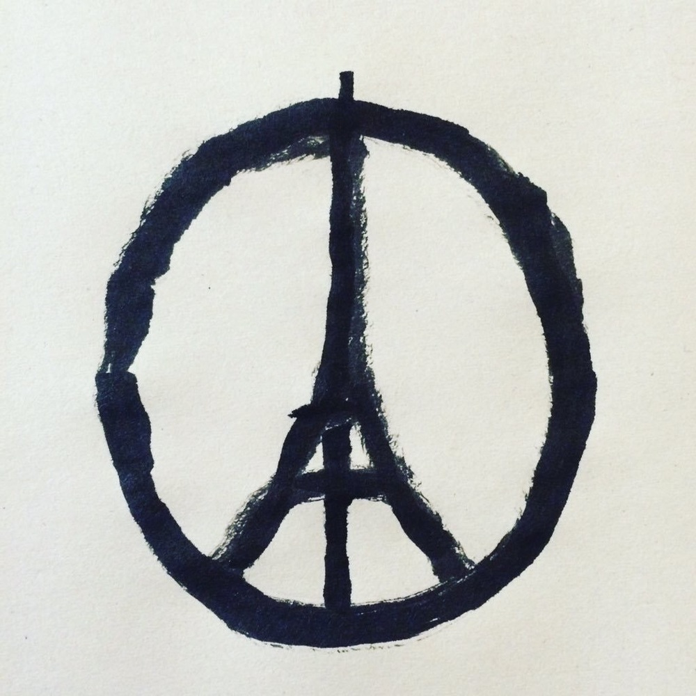 Peace for Paris by @jean_jullien on Teitter