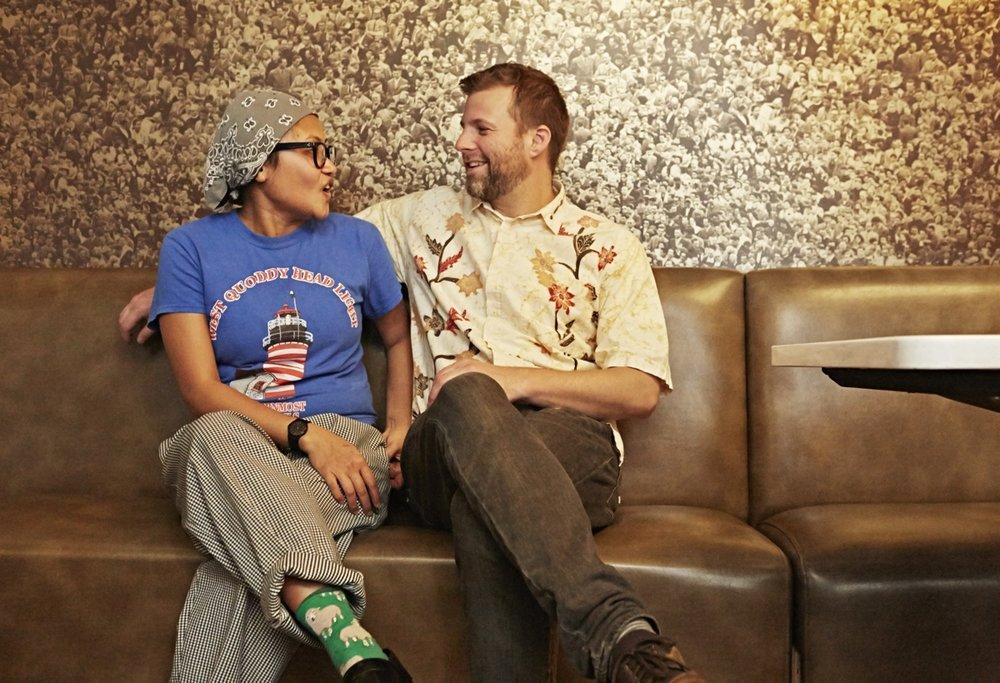 Retno and Pete at a recent pop up at Mamaleh's. Photo Credit:  Nina Gallant .