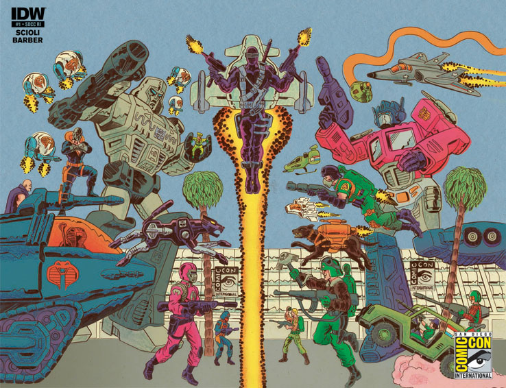 SDCC Retailer Incentive Cover Art By: Tom Scioli
